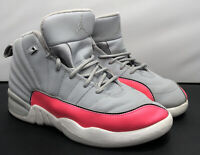 Nike Air Max Jordan 12 Retro PS Gray Racer Pink Shoes 510816-060 Youth Size 3Y