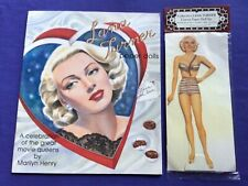 Lana Turner Paper Dolls Marilyn Henry signed Shackman and Co. Uncut