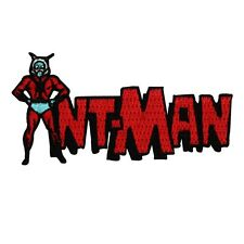 "Retro Marvel ""Ant-Man"" Superhero Iron-On Patch Comic Fan Craft Apparel Applique"