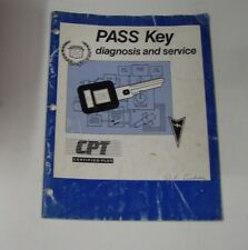 GENUINE GM / CPT PASSKEY  DIAGNOSIS MANUAL & SERVICE 59407.00-1