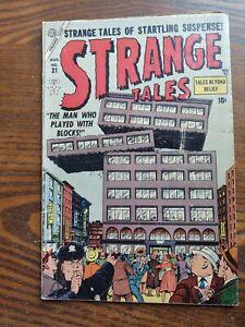 Strange Tales #31 1954 VG condition