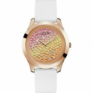 Guess Ladies White Leather Watch W1223L3 RRP £139