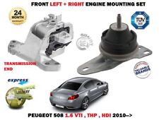 FOR PEUGEOT 508 1.6 VTI THP HDI 2010--> FRONT LEFT + RIGHT ENGINE MOUNTING SET