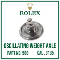 ♛ ROLEX Oscillating Weight Axle, Swiss Made, Part No. 568 For Cal. 3135 ♛