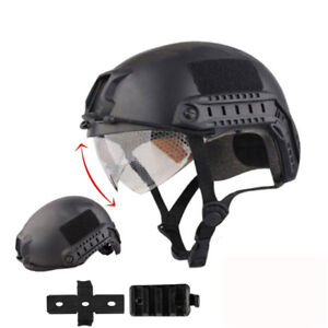 Tactical Airsoft Paintball SWAT Protective FAST Helmet W/ Goggle