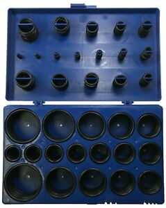 (419) Black Automotive Metric O-Ring Seal Assortment Kit for Hydraulic Fittings