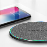 Qi Wireless Charger 10W Fast Charging Dock Pad Mat For iPhone 8 X 8Plus XR XSMax