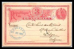 GP GOLDPATH: GUATEMALA POSTAL CARD 1892 _CV712_P20