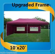 10'x20' Pop Up Canopy Party Tent EZ - Maroon - F Model Upgraded Frame