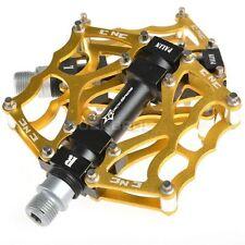 "Rockbros Mountain Bike Bicycle Pedals 9/16"" MTB BMX DH Platform Pedals Gold"