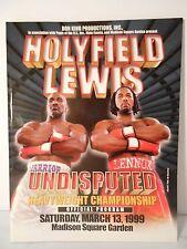 EVADER HOLYFIELD vs. LENNOX LEWIS I - On-site Boxing Program 03/13/1999 NM