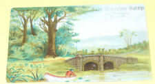 New Process Soap - Bridge in Country  Ad Card 1880s SEE