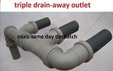 TRIPLE WASTE EASY DRAIN AWAY WATER OUTLET HOSE/PIPE TO WASTEMASTER HOG CARAVANS