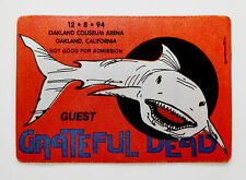 Grateful Dead Backstage Pass Great White Shark Oakland 12/8/1994 St. Stephen !!!