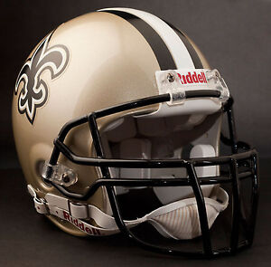 DREW BREES Edition NEW ORLEANS SAINTS Riddell AUTHENTIC Football Helmet NFL
