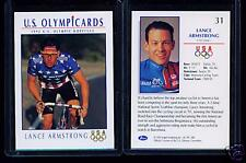 RARE 1992 OLYMPIC LANCE ARMSTRONG ROOKIE CARD #31 ~ TDF ~ CYCLING ~ MULTIPLES