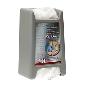 Gadjit Bag Keeper Plastic Grocery Bag Holder & Dispenser Gray 79136