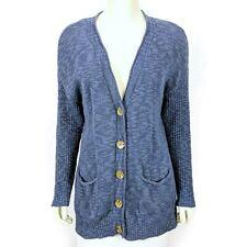 J. Jill Blue Long Sleeve Button Front Cardigan Sweater Women's Medium Petite