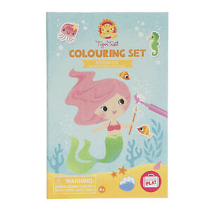 NEW Tiger Tribe Colouring Set - Mermaids Childrens Art Craft Activity