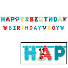 Disney Mickey Mouse 1st Happy Birthday Party Fun To be One Jumbo Banner