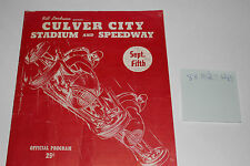 Midget Auto Races Program, Culver City Speedway, Sept 5 1947, Original #2