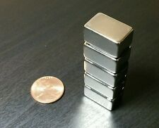 "5 Neodymium N52 Block Magnets. Super Strong Rare Earth 3/4"" x 1/2"" x 3/8"""