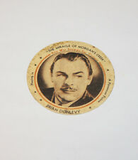 WWII Vintage Meadow Gold Dixie Cup Lid with Brian Donlevy and Buy War Stamps