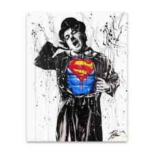 """Oeuvre Pop Art sur toile imprimée """"Charlie Chaplin Superman"""" 60x80"""