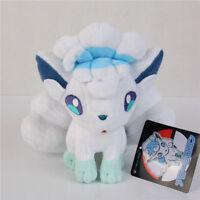 Pokemon Center Alolan Alola Vulpix Plush Toy Figure Stuffed Doll 8 inch Gift