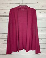 Michael Stars Anthropologie Women's OS One Size Pink Open Knit Cardigan Sweater