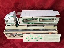 """1997 HESS """"TOY TRUCK AND RACERS"""" NEW IN BOX, (2) STOCK CAR STYLE RACE CARS"""