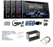 JVC kw-r520 Autoradio 2din CD mp3 AUX USB PER VW BORA PASSAT GOLF IV 4 LUPO SEAT