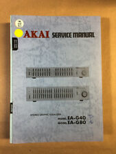 Akai EA-G40 EA-G80 Equalizer Service Manual *Original*