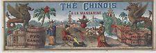 """""""THE CHINOIS A LA MANDARINE"""" Etiquette-chromo originale fin 1800"""