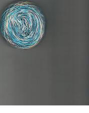 Hand dyed Crochet/ tatting thread size 10 varigated blues purple pink