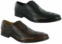 Goor Oxford Brogue Leather Lace Up Lined Mens Formal Shoes Boots UK6-12
