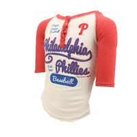 Philadelphia Phillies MLB Genuine Kids Youth Girls Size 3/4 Sleeve Shirt New
