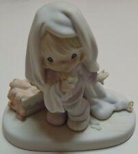 Boxed Precious Moments June Calendar Girl Figurine 110043 Enesco Porcelain 1987