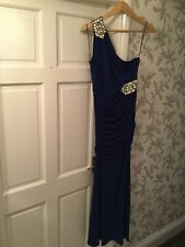 Jane Norman Royal Blue Off One Shoulder Long Party Cocktail Dress Size 12 New