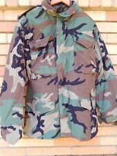 Vintage New Military Alpha Industries Woodland M65 Jacket Camo Coat XS MINTY NOS