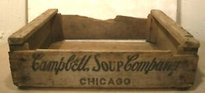 Vintage Campbell Soup Company Original Wooden Shipping Crate Chicago Ill. 1965