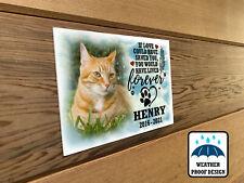 Cat memorial plaque, Fur baby remembrance plaque, Bench plaque, Photo plaque.
