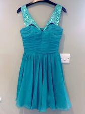 Lipsy Jade Green Chiffon Prom Dress, Size 8, Bnwt
