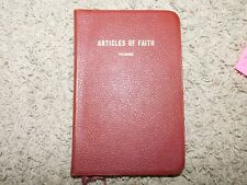 1949 ARTICLES OF FAITH by James Talmage LEATHER Liberty Stake Presidency