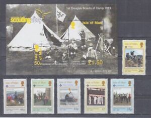 D. Insel Man  1343 - 48 + Block 59   Pfadfinder Scouts  **  (mnh)