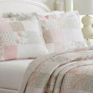 ONE Laura Ashley Celina Patchwork PINK STANDARD SHAM Quilted  - I HAVE 2 AVAILAB