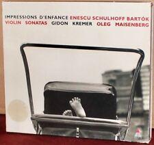 TELDEC CD: Enescu: Impressions d'enfance; Schulhoff; Bartok - MAISENBERG, KREMER