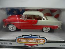 1:18 ERTL - Chevrolet Bel Air 1955 Red/White - Rarity §