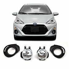 2015 Toyota Prius C Chrome Clear Front Bumper Driving Fog Lights+Bulbs+Switch