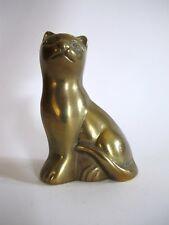Skulptur Katze Antik-Stil Messing Bronze Vitrine Vitrinenobjekt